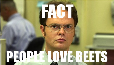 Image result for dwight schrute and beet