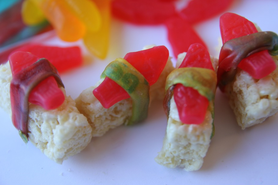 Wtf is dessert sushi and how do you make it for Does swedish fish have gelatin
