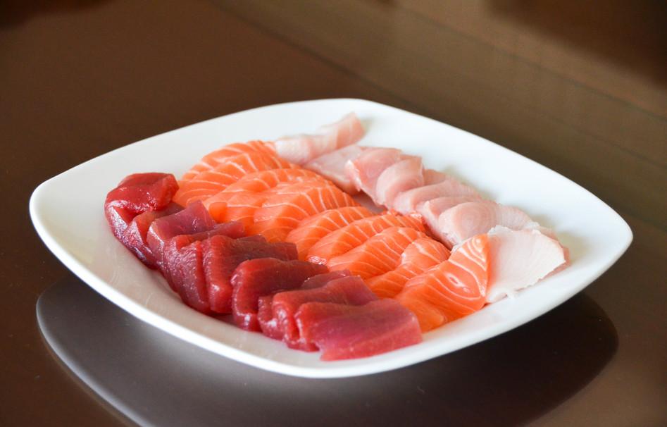 wasabi, meat, tuna, rice, seafood, fish, sashimi, salmon, sushi