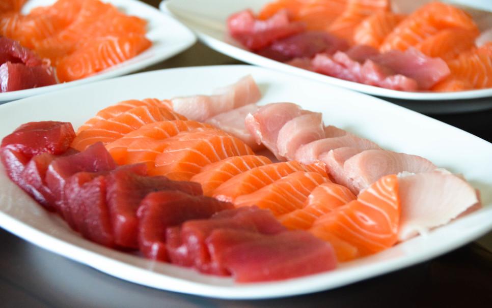 goody, meat, shrimp, wasabi, tuna, rice, sashimi, fish, seafood, salmon, sushi