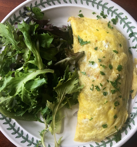 How to make a pesto omelette with veggies parsley spinach egg scrambled omelette omelet forumfinder Images