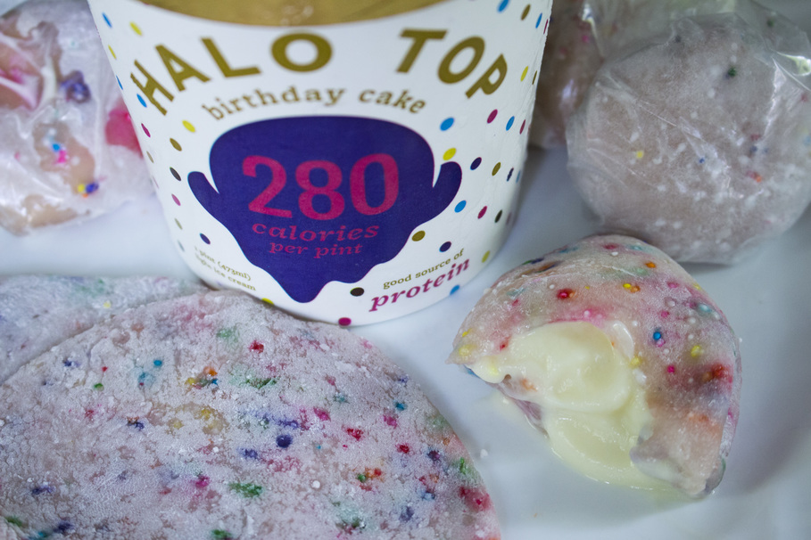 Tremendous Birthday Cake Mochi Ice Cream Recipe You Can Make In The Microwave Personalised Birthday Cards Veneteletsinfo