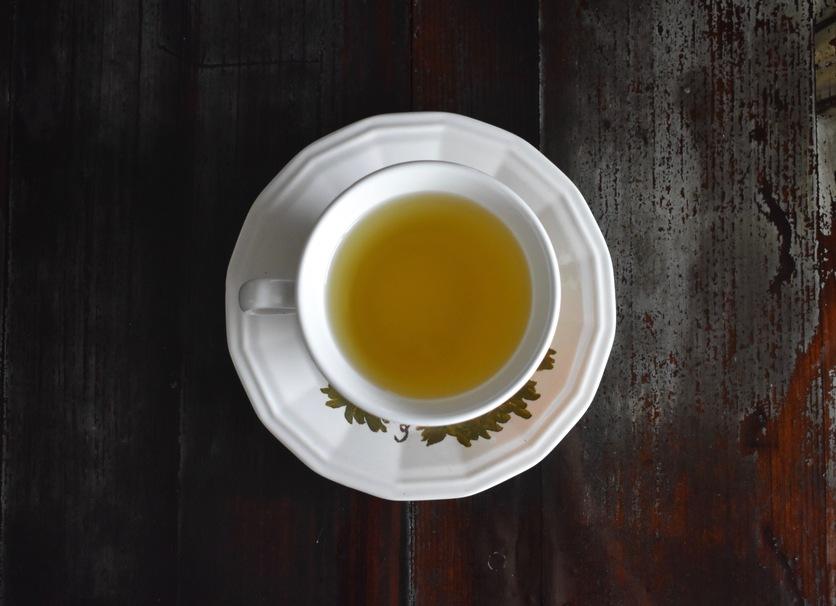 Green, tea, teacup