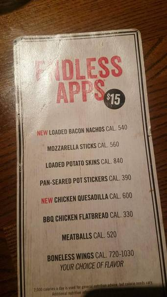 buuuuut this was apparently all a lie because tgi fridays just high key raised its endless apps prices