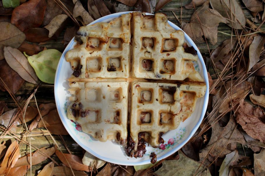 Vegan Chocolate Peanut Butter Waffles On A Budget
