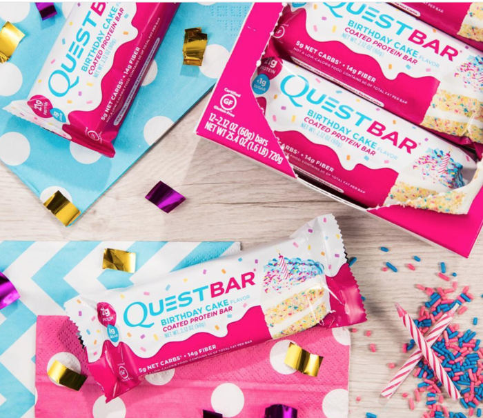 The New Birthday Cake Quest Bar Is Absolutely Delicious