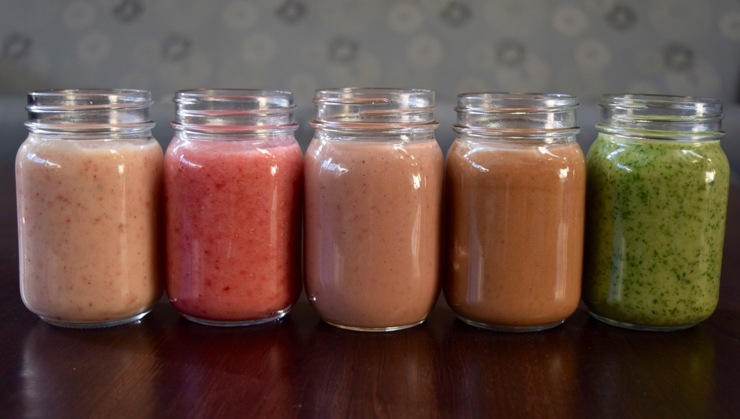How to Make 5 Different Smoothies with 10 Total Ingredients