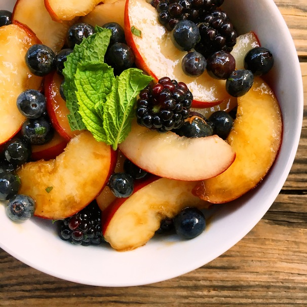 Have This Berry and Peach Salad Recipe on Hand If You Love Peaches