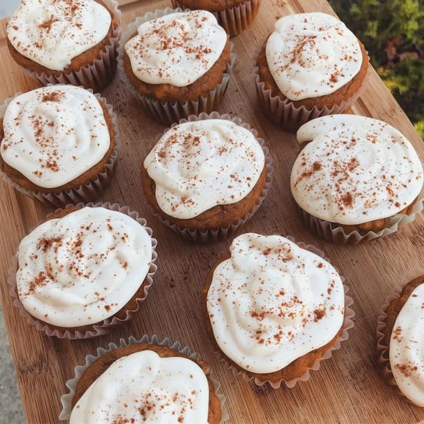 Nutty Pumpkin Spice Cupcakes to Keep You Cozy This Fall