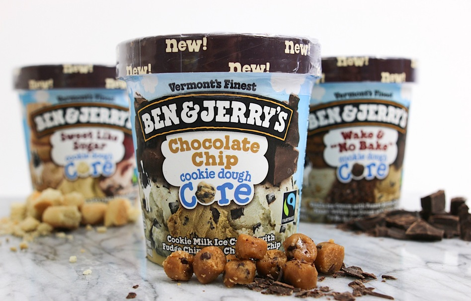 Ben and Jerry's Launches New Cookie Dough Cores Line