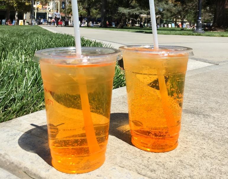 April CoHo Drink of the Month: Peach Mango Green Tea Sparkler