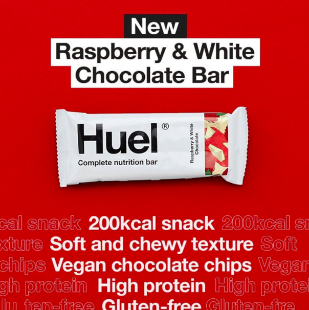 Fuel Up With Huel's New Raspberry And White Chocolate Bar