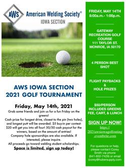 AWS Iowa Section 2021 Golf Tournament