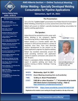 AWS Alberta Section April Meeting Announcement