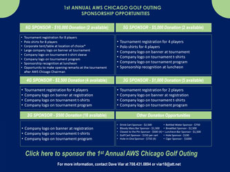 AWS Chicago Section 1st Annual Golf Outing Sponsorship Opportunities