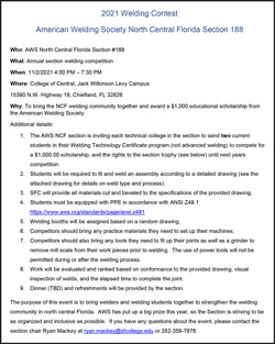 AWS North Central Florida Section November Event Announcement