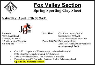 AWS Fox Valley Spring Sporting Clay Shoot