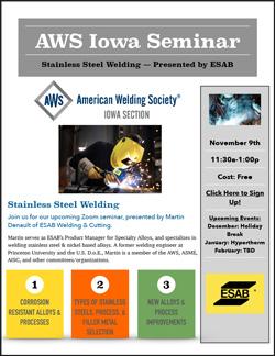 AWS Iowa Section November Meeting Announcement