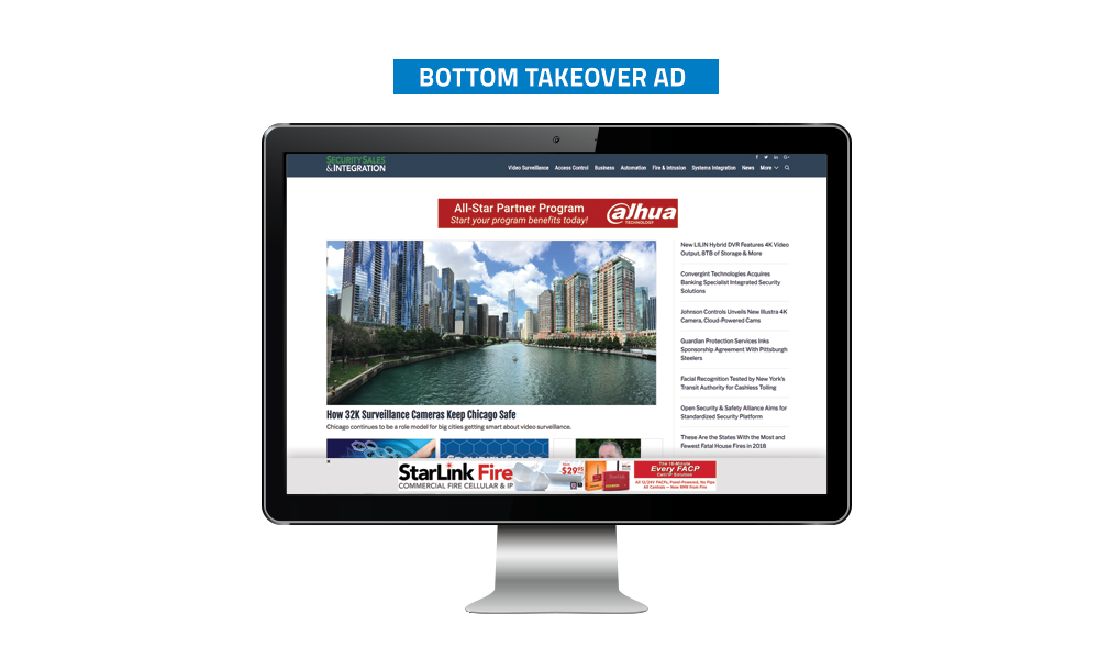 Security Sales & Integration Banner Ads - Bottom Takeover