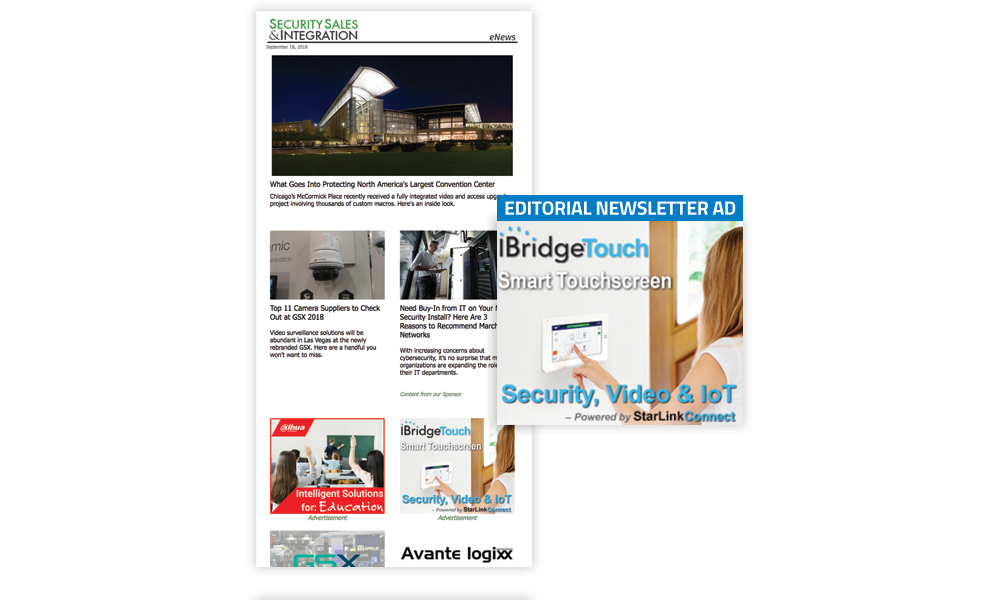 Security Sales & Integration Newsletter - Editorial