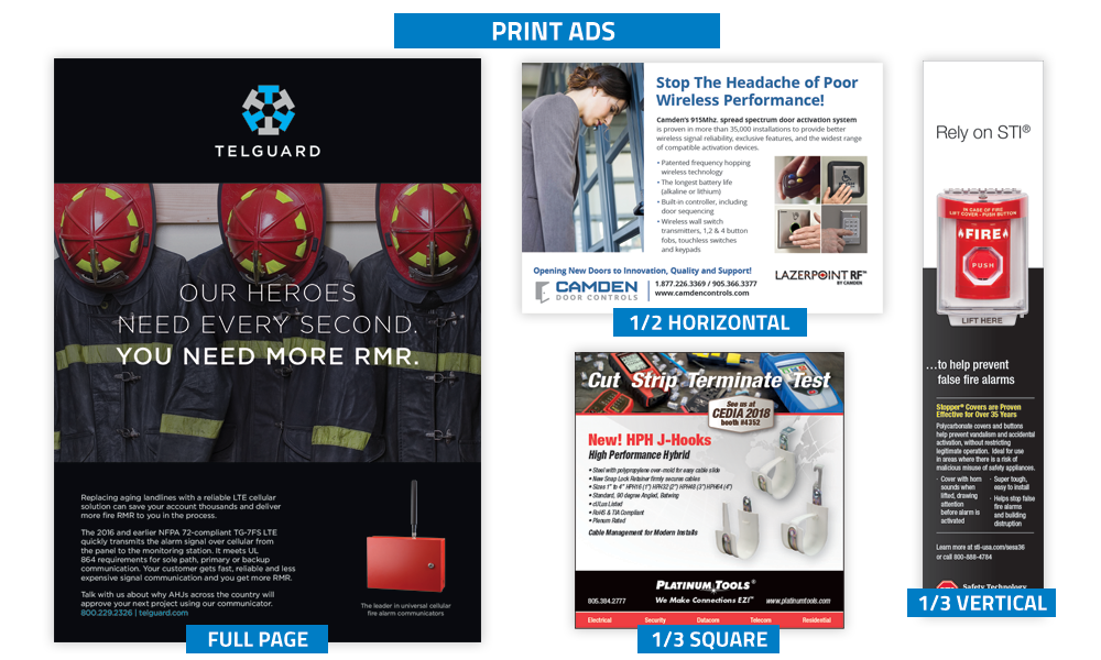 Security Sales & Integration - Print Advertising