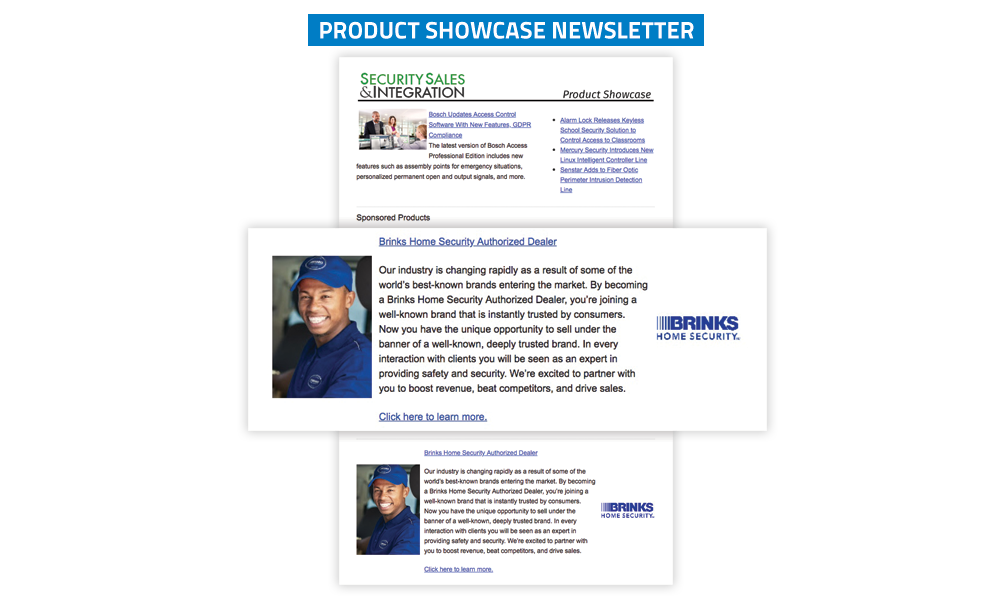 Security Sales & Integration Newsletter - Product Showcase
