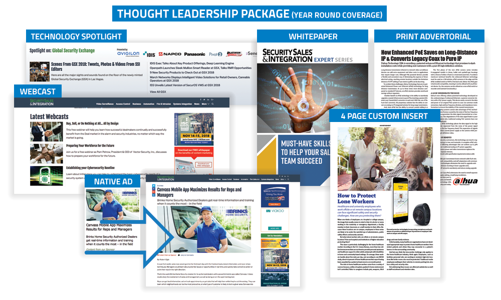 Security Sales & Integration - Thought Leadership Package