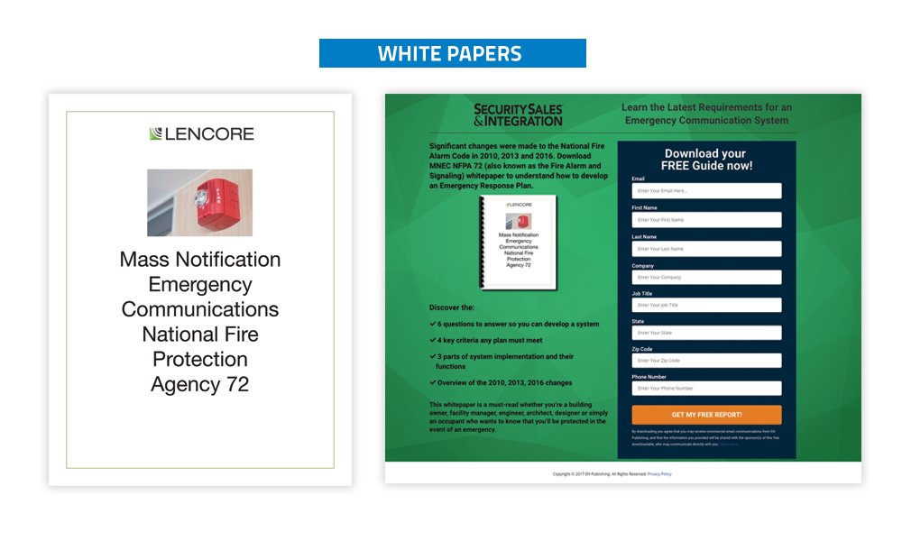 Security Sales & Integration - Whitepapers