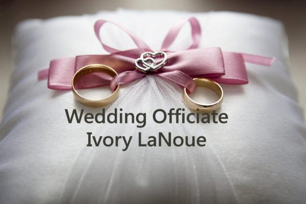 wedding officiate ivory lanoue