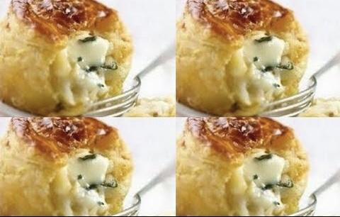فطائر الجبنة البيضاء بالنعناع الأخضر