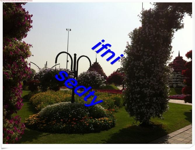صور زيارتي لحديقة  miracle بدبي