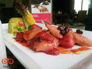 Thumb header chicken strawberry