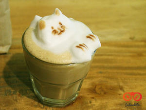 Thumb header coffee latte