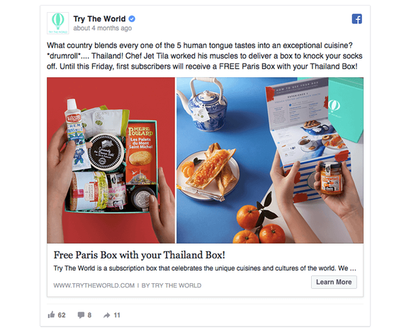 Try The World Fb Ad 1