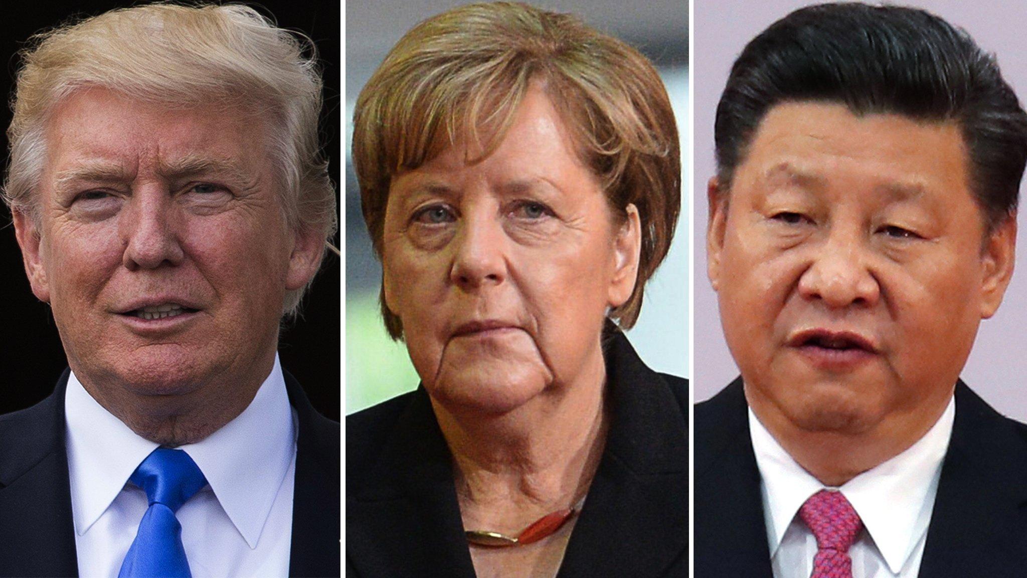 G20: Donald Trump, Angela Merkel y Xi Jinping en concurso por el liderazgo global