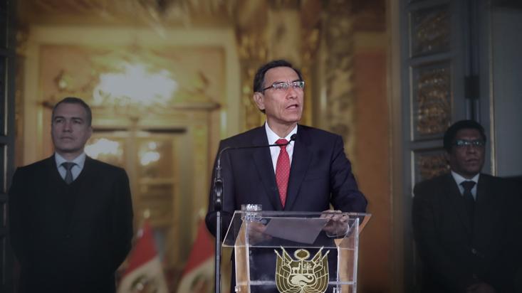 Martín Vizcarra anunció cuestión de confianza por elección de magistrados al TC