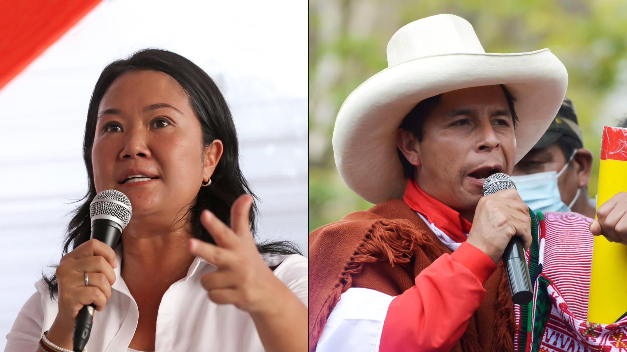 <p>Pedro Castillo obtiene 50.199%; y Keiko Fujimori, el 49.801%, según ONPE al 100% de actas procesadas</p>