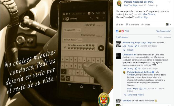 El manejo de marca digital de la Policía Nacional del Perú