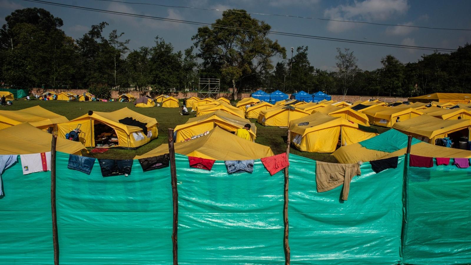 Diario del primer mes del campamento para venezolanos en Bogotá