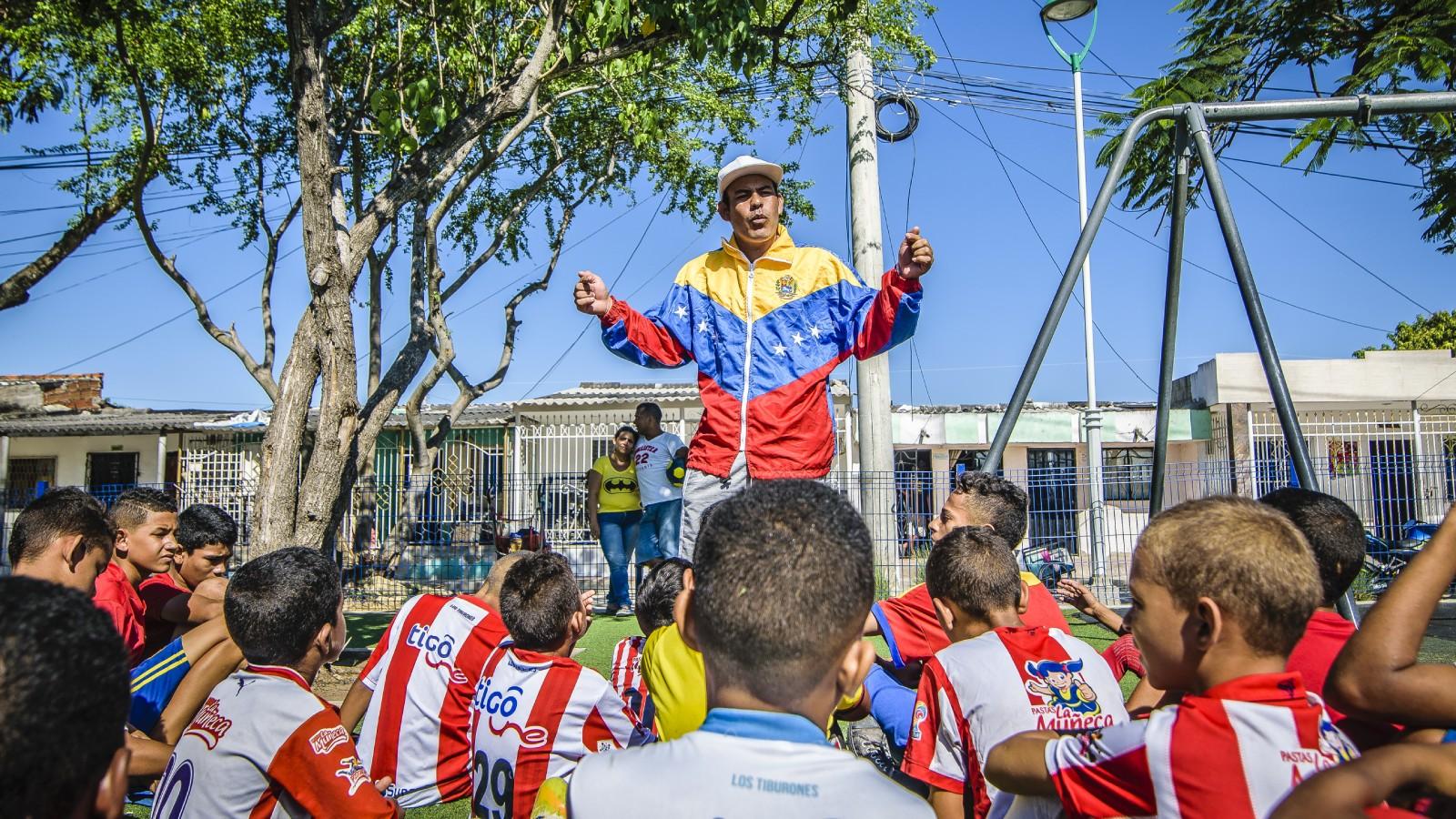 Integración en la cancha: la escuela colombovenezolana de fútbol
