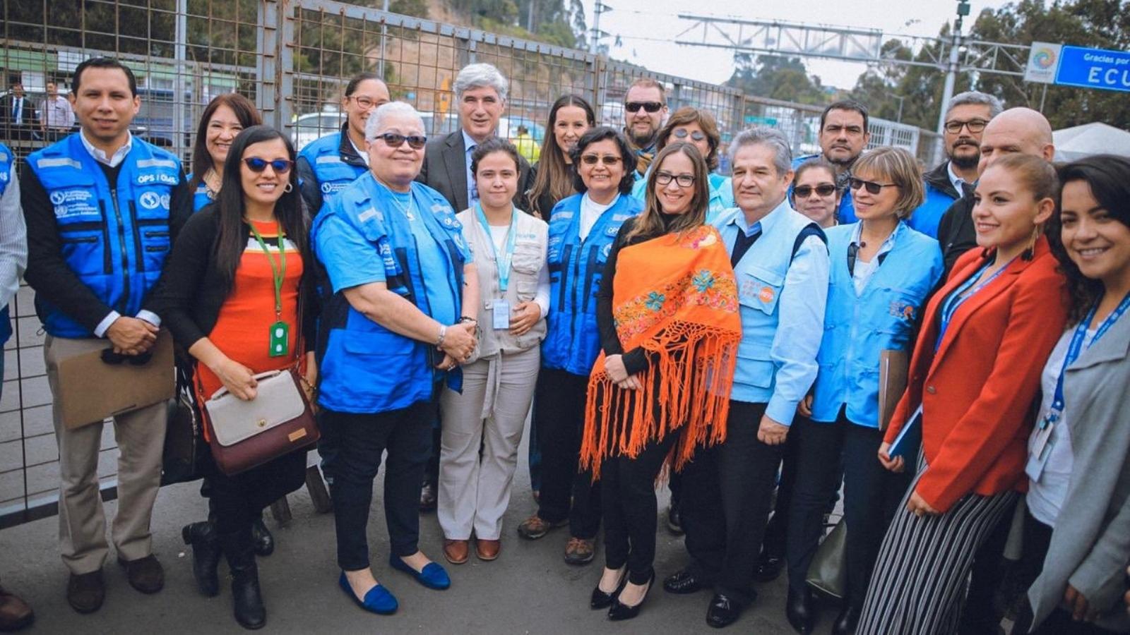 Ministros de salud de Colombia y Ecuador evaluaron la atención a los migrantes