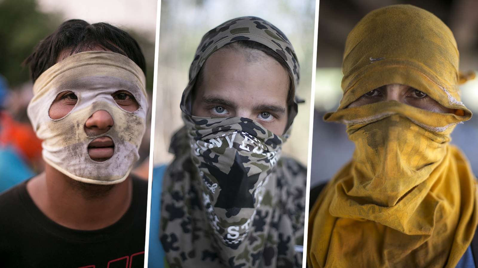 Encapuchados: la espera de «La resistencia» en la frontera