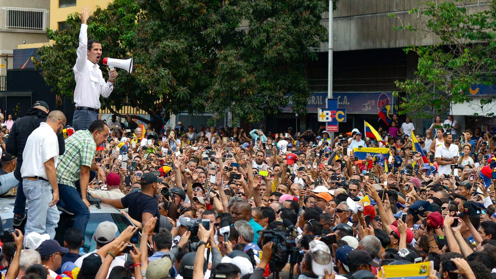 Juan Guaidó anuncia movilización nacional hacia Caracas