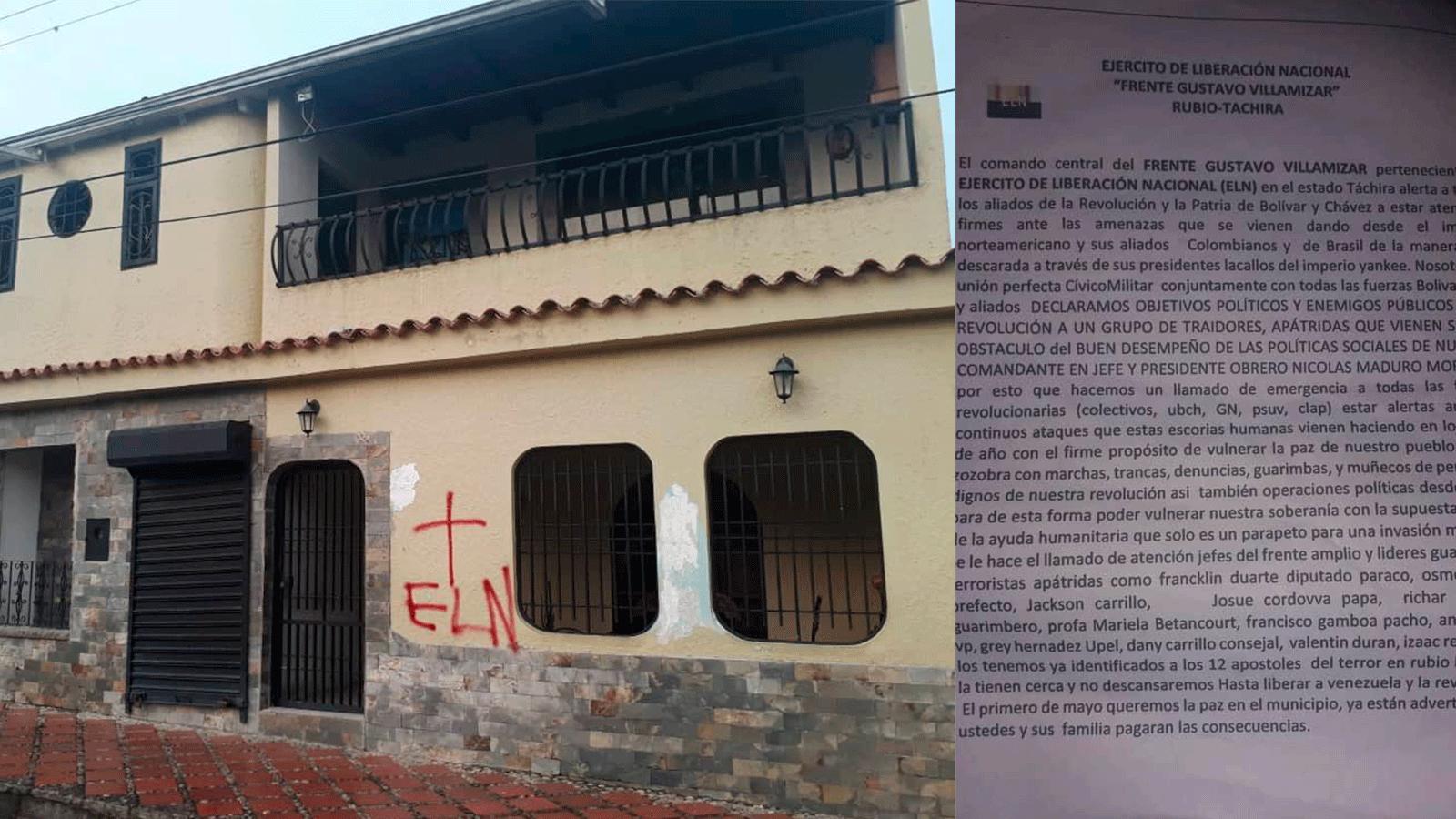 Aparecen panfletos del ELN en poblaciones venezolanas en la frontera