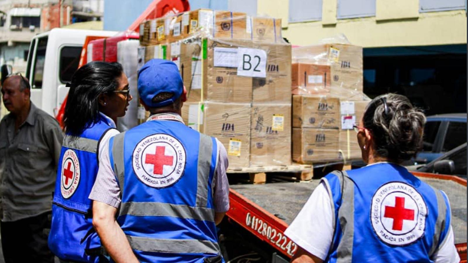 Llega a Venezuela segundo cargamento de ayuda humanitaria de la Cruz Roja