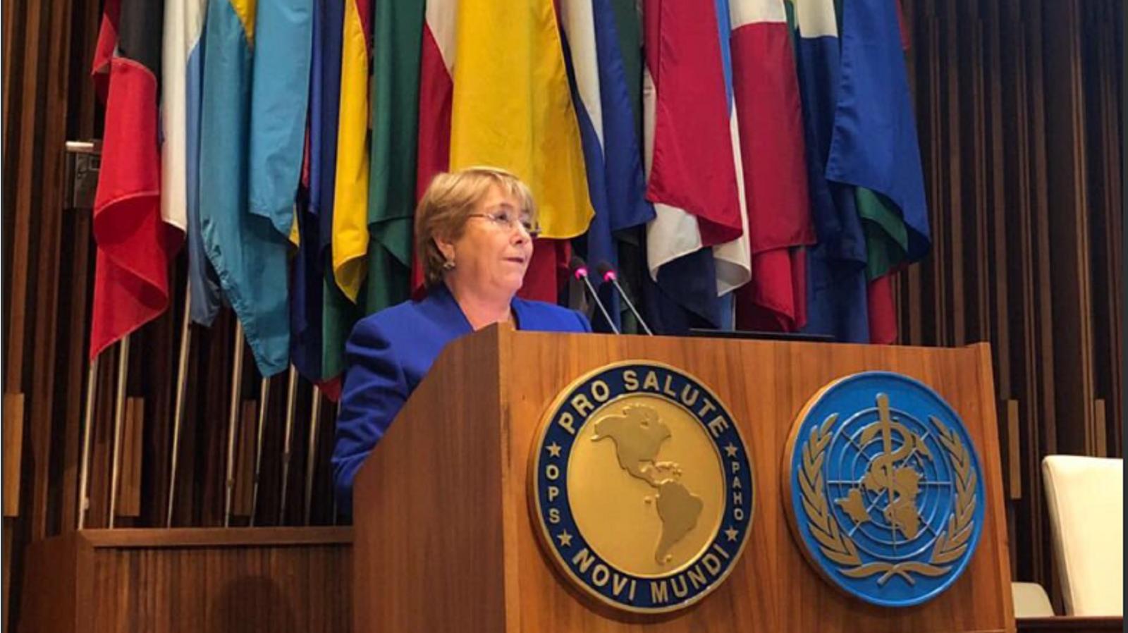 Bachelet inicia su visita en Venezuela para abordar la crisis