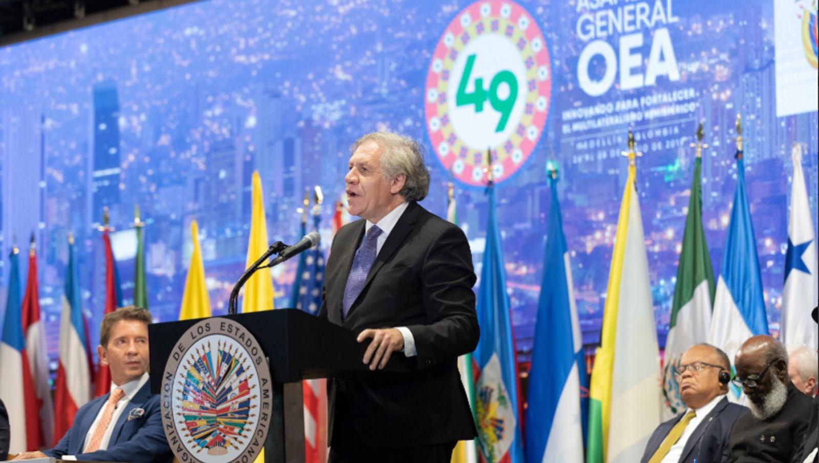 Durante inauguración de Asamblea de la OEA Almagro critica gestión de Bachelet