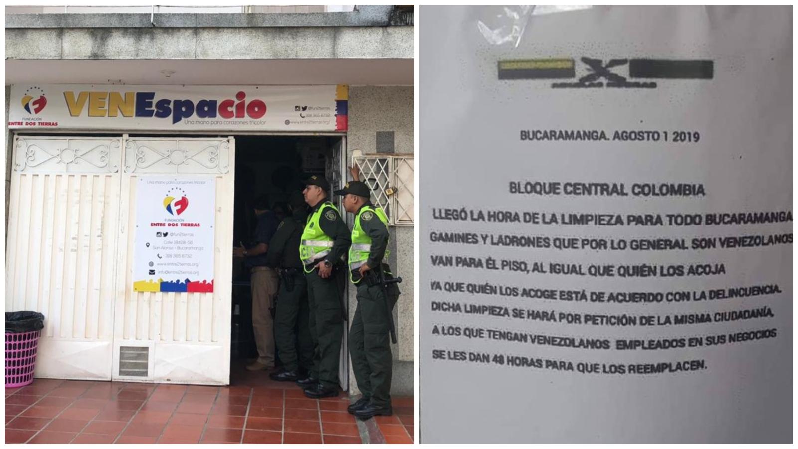 Alarma en Bucaramanga por panfletos que amenazan a migrantes