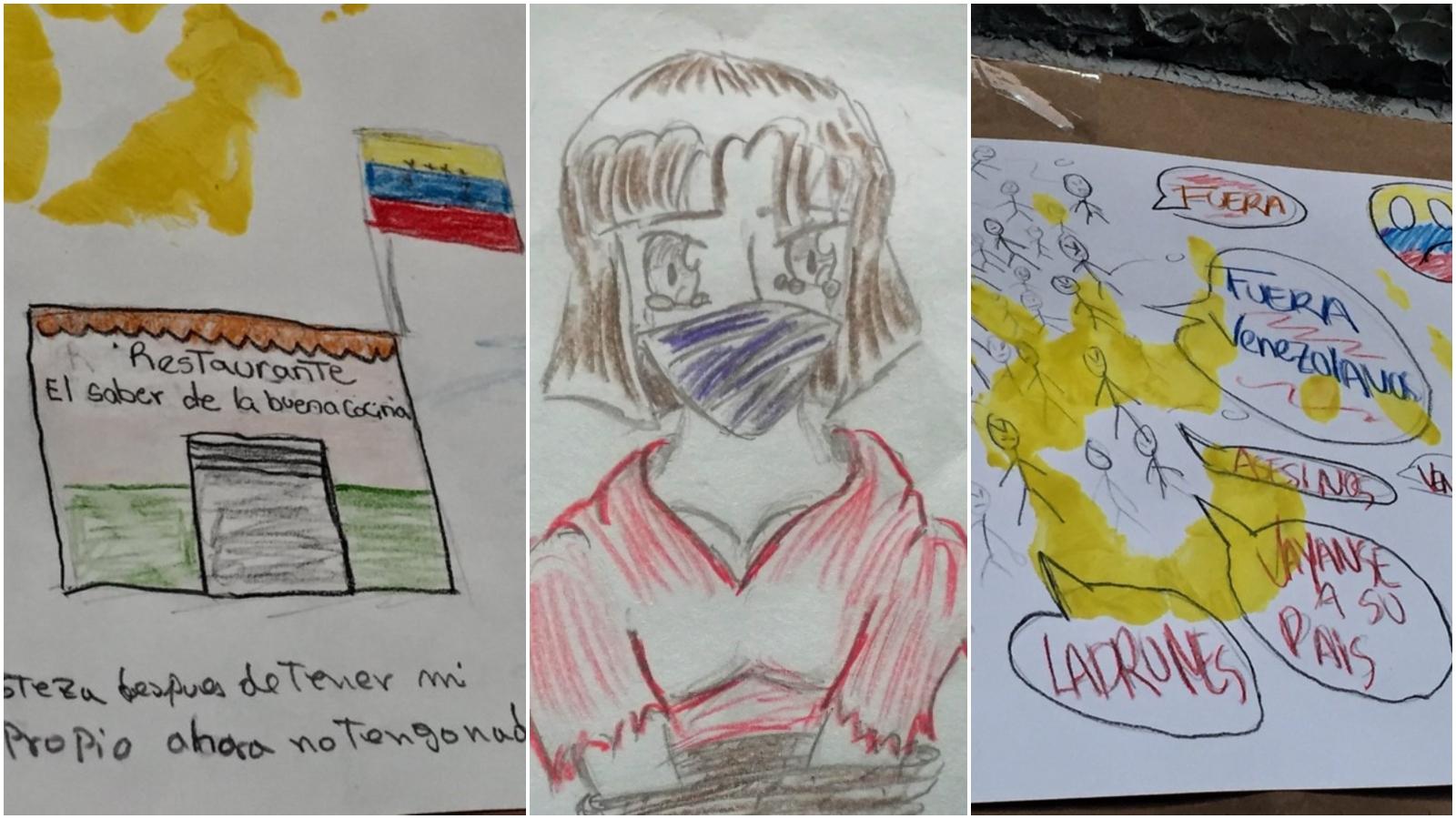 Así dibujan los venezolanos su experiencia como migrantes