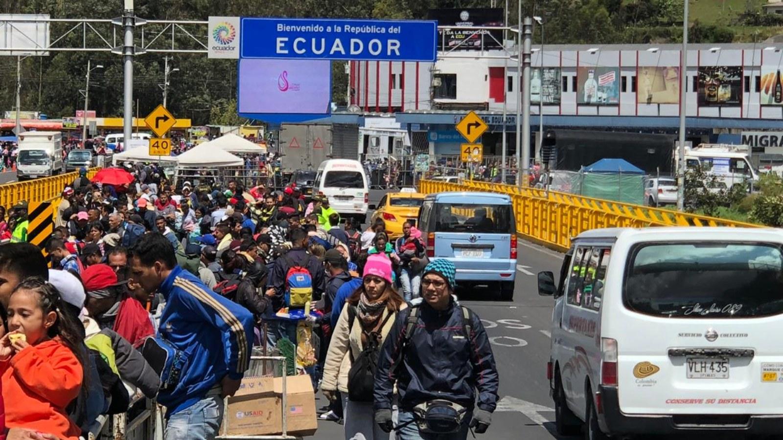Así se vivió la salida de venezolanos hacia Ecuador el fin de semana